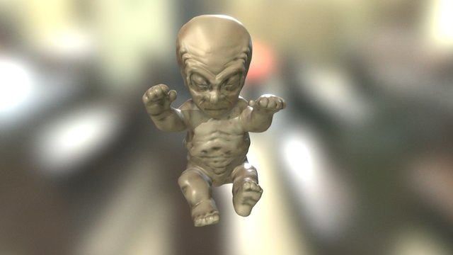 X-Files pinball Alien Toy 3D Model