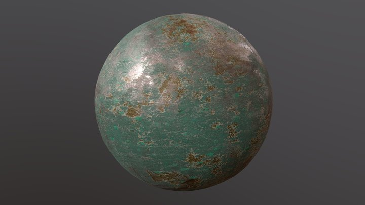 Substance Corroded Bronze 3D Model
