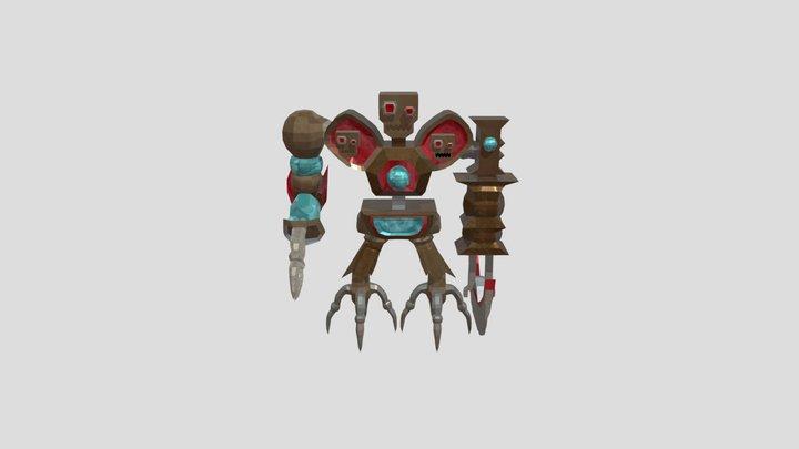 Ezaroid - The Chopping Killer Machine 3D Model