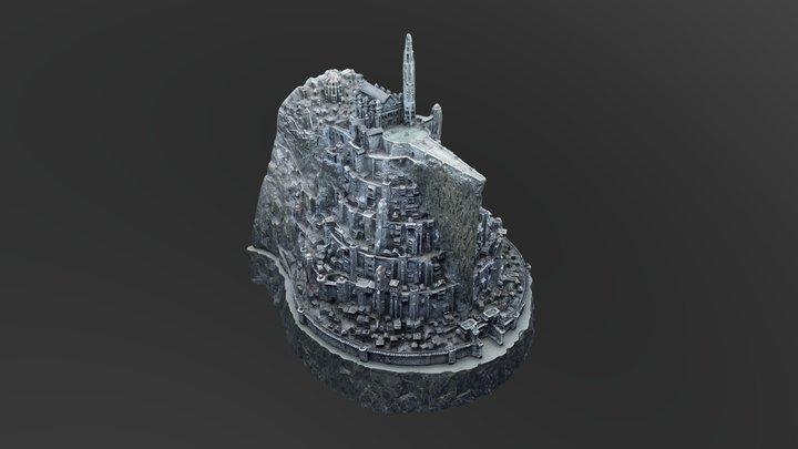 Miniatura Minas Tirith - Prueba base giratoria 3D Model
