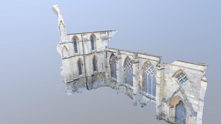 Hedon- North- Elevation- Nave 3D Model
