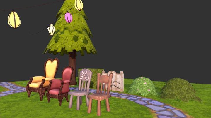Teaparty Probs Garden 3D Model