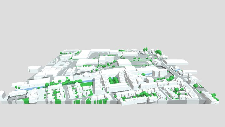 George Richards Way, Altrincham 3D Model