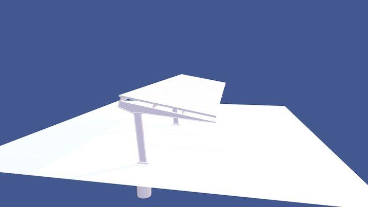 Solar Car Port Model 3D Model