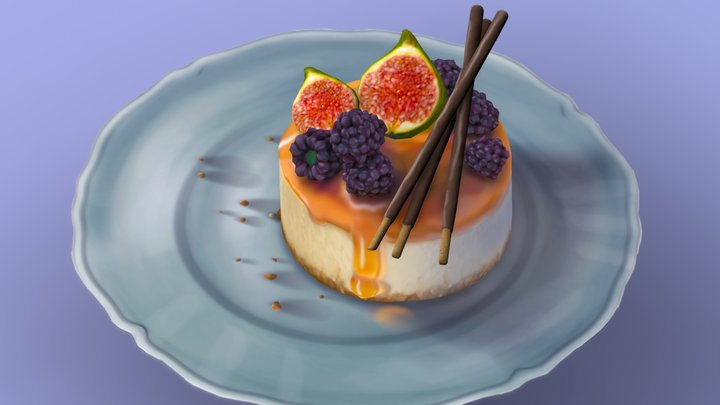 little Dessert - Cheesecake 3D Model