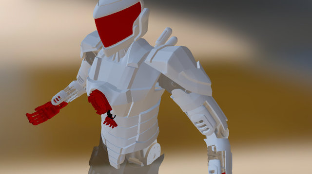 WIP Android/Hightech/Mech Soldier 5 3D Model