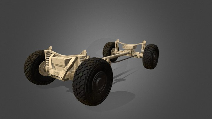 Tire and Suspension 3D Model
