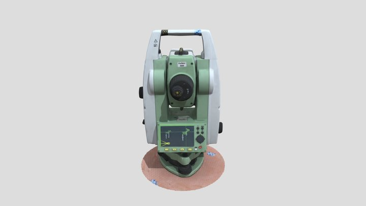 TS02 Leica Total Station 3D Model