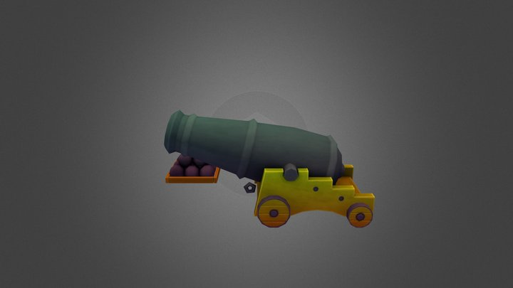 Stylized Cannon 3D Model