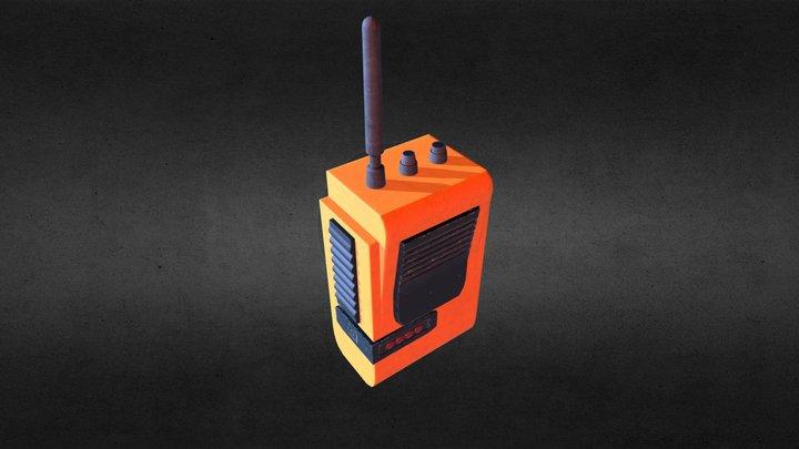 Radio PBR 3D Model