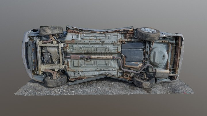 Chevy Impala Undercarriage 3D Model