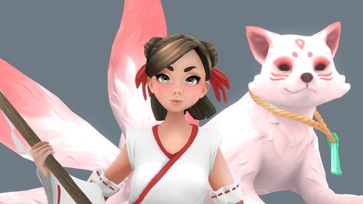 Sayuri and Kota 3D Model
