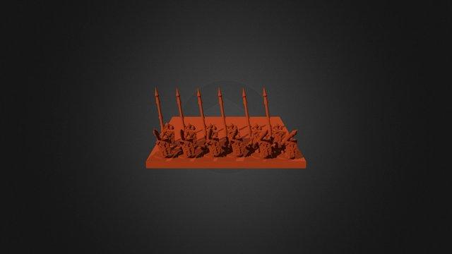 Junker Legionary Triarii 3D Model