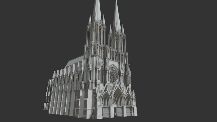 Cathedral Test 3D Model