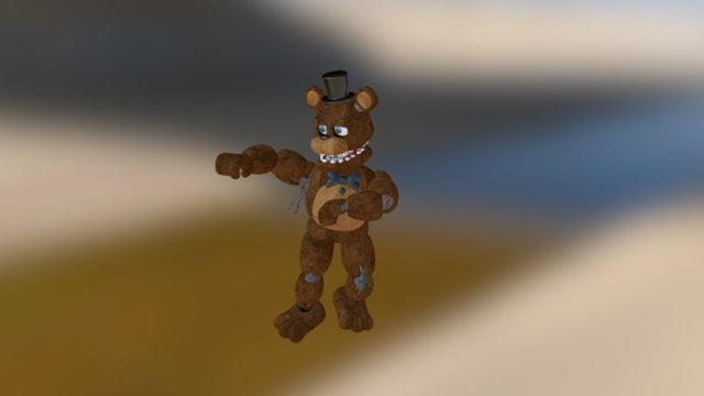 Gangnam Style (withered Freddy) 3D Model