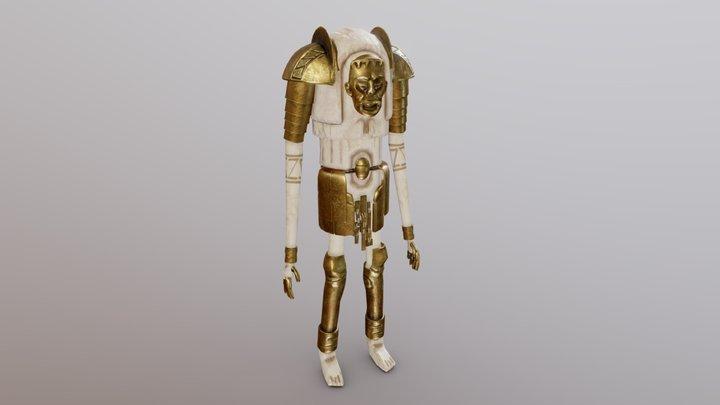 Ancient Brass Golem 3D Model