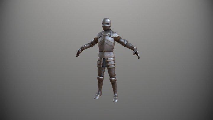 Male Knight Armor 3D Model