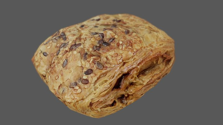 Pastry 01 - Low Poly - Photogrammetry 3D Model