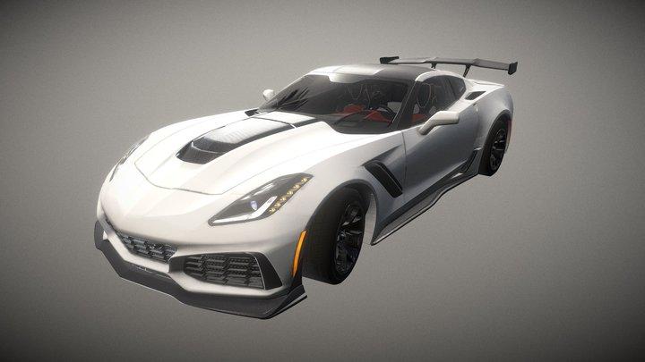Unlock Super Sports Car 04 3D Model