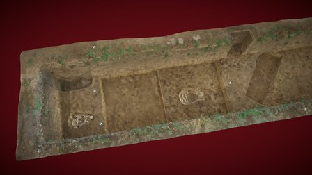 Sultana archaeological trench 3D Model