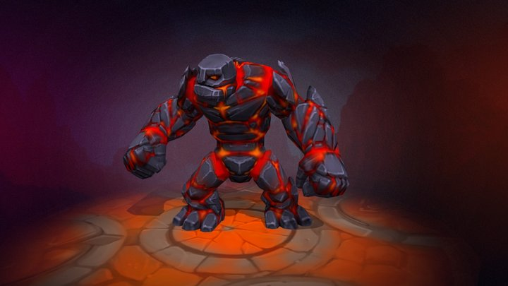 Golem animated character 3D Model