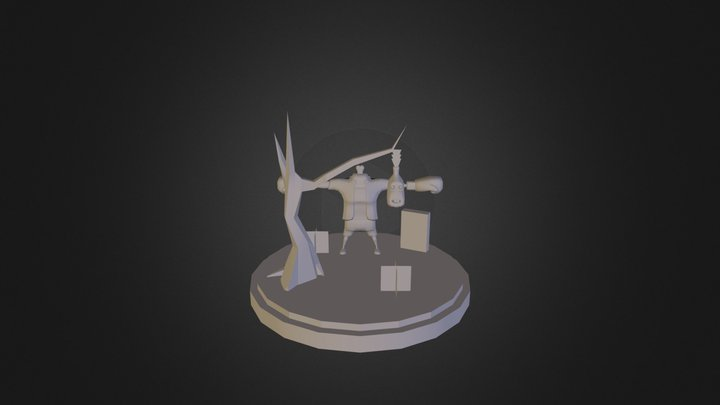 Zombie Boxer W.I.P 3D Model
