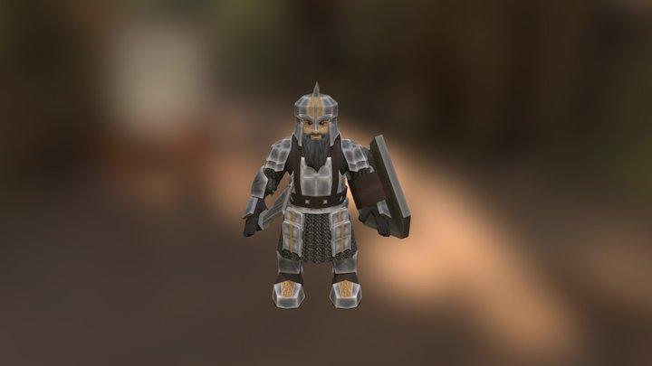 Iron Hills Dwarf Warrior 3D Model