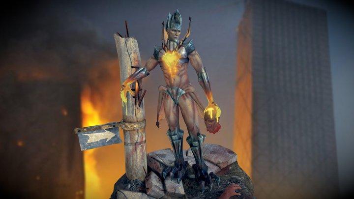 Nexgen game lowpoly model - Iron Demon 3D Model