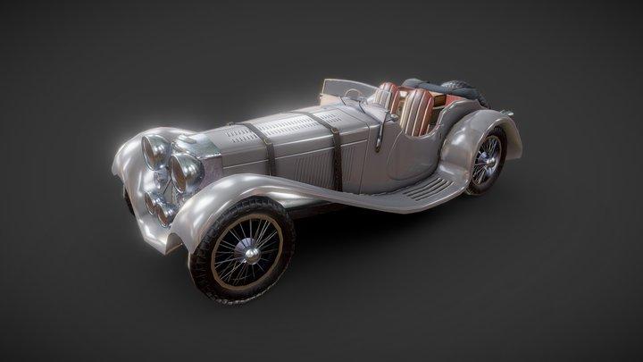 SS Jaguar 100 3D Model