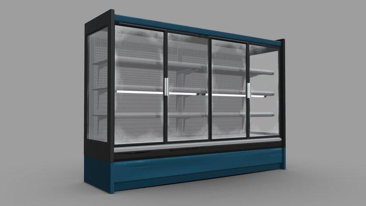 Food shop showcase 3D Model