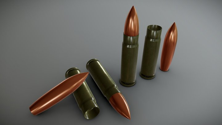 9x39mm SP-5 ammo 3D Model