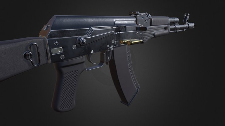 AK-74M Assault Rifle 3D Model