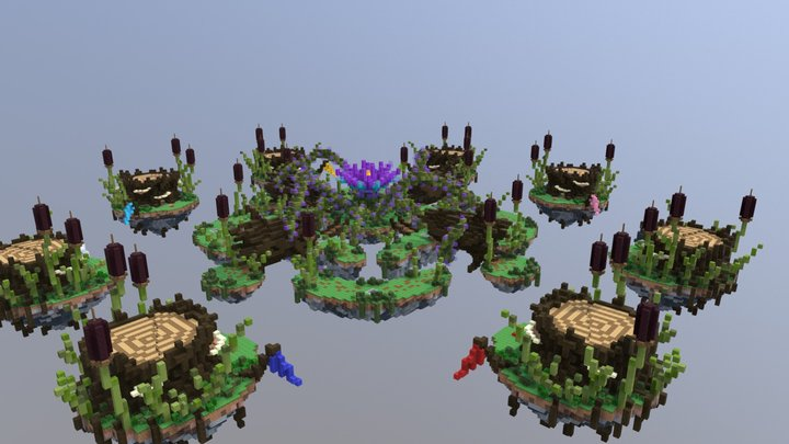 Bedwars Map - Swamped (Solo/Doubles) 3D Model