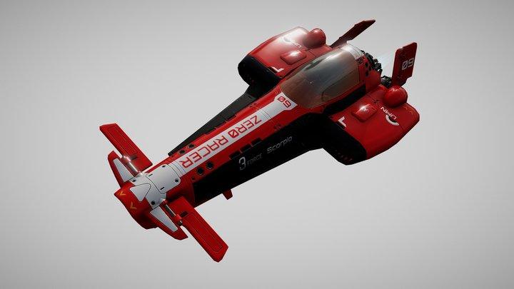 Zero Racer F1 Ship 3D Model