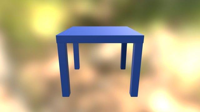 Square Table 3D Model