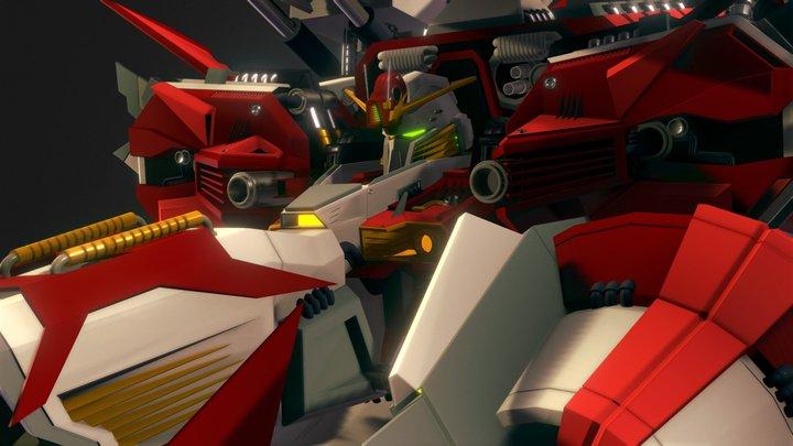 Ex-s Gundam Deep striker 3D Model