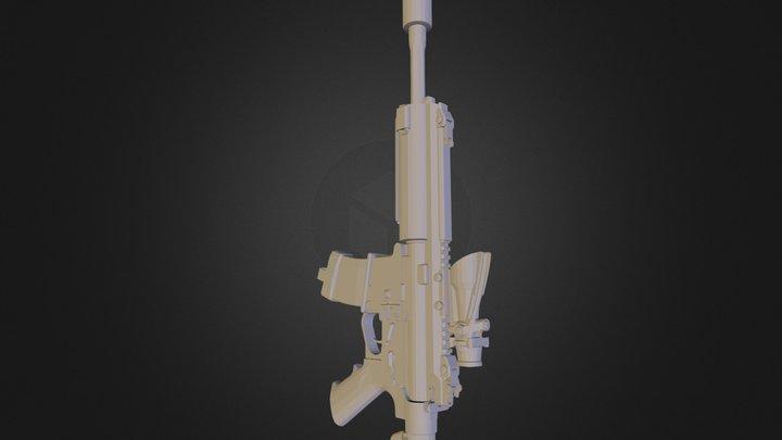 P416 Scoped 3D Model