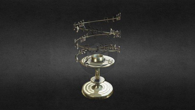 Świecznik z nutami 3D Model