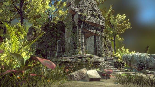 Cambodian Temple 3D Model