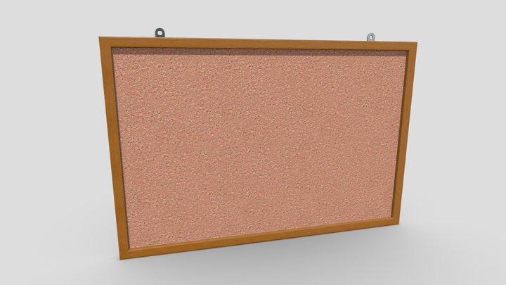 Corkboard 3D Model
