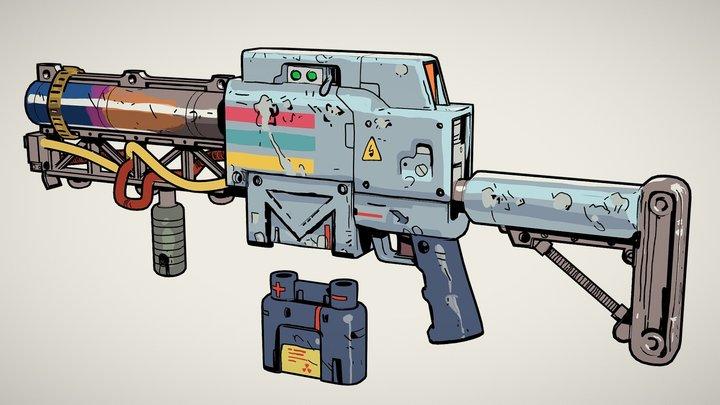 Laser Rifle 3D Model
