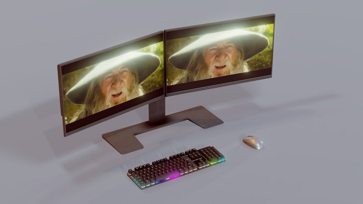 Gandalf Sax Animated - PC Set 3D Model