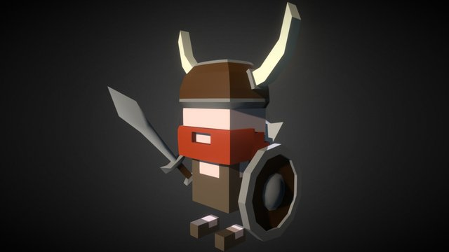 Low Poly Viking Character 3D Model