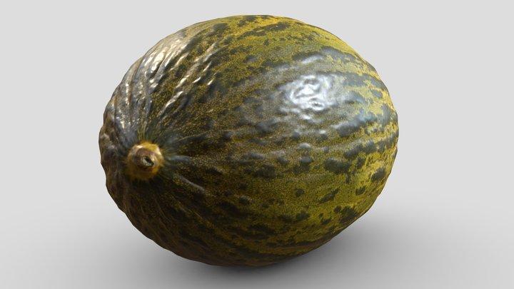 Melon Scan   Retopologized 3D Model