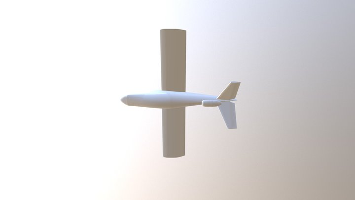 Airplane 0016 Off 3D Model