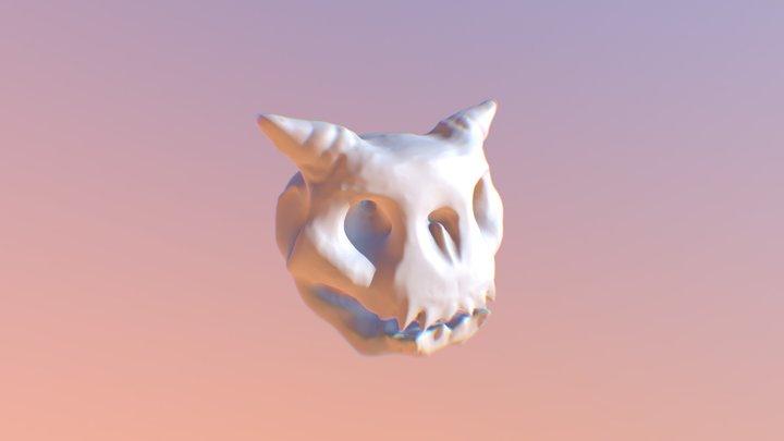 Demon Skull Baby 3D Model