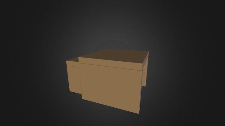 Tavolino doppio 3D Model