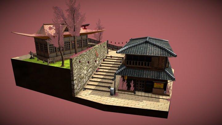 Cityscene Kyoto 3D Model