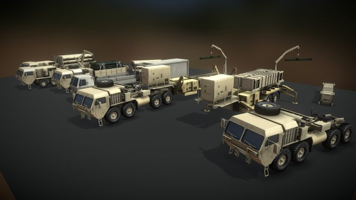 Military Vehicle Safety Training Assets 3D Model