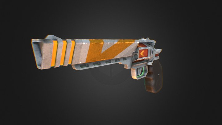 Triangle Revolver 3D Model